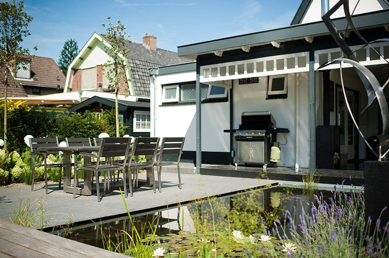 Buytengewoon moderne tuinen gezellige achtertuin met bu