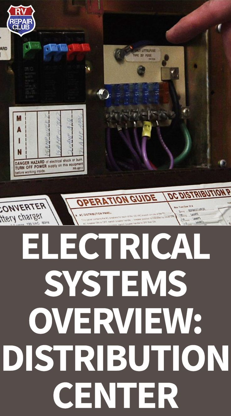 Rv Electrical Systems Overview Distribution Center Even Repair Wiring Pinterest Living Hacks And Camper