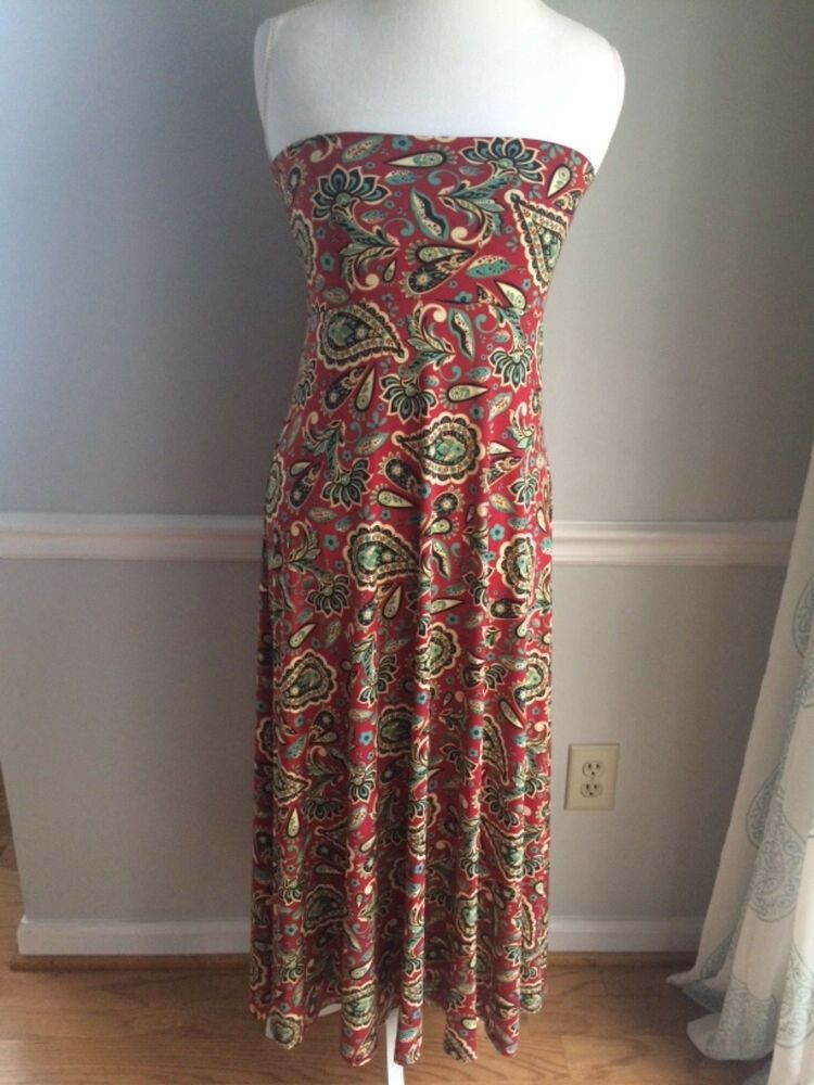 c2b6a6b318 Size Small LuLaRoe Maxi skirt dress Red green cream purple black paisley  slin #LuLaRoe #Maxi