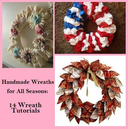 "14/"" Burlap Wreath Handmade"