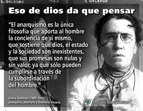 Anarquismo (Emma Goldman, 1869-1940)