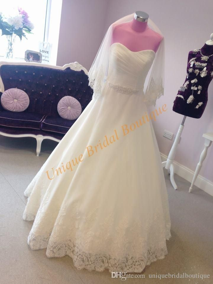 Famous Designer Wedding Dresses 2017 With Free Veil Pearls Sash Real Picture Ruched App Expensive Wedding Dress Cheap Short Prom Dresses Bridal Gowns Vintage