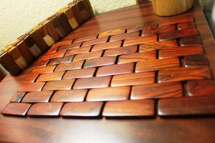 10 Oriental Style Wooden Placemats Rilane We Aspire To Inspire Placemats Oriental Fashion Wooden