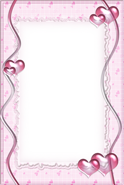Pink Transparent Frame with Hearts   Clip art freebies ...