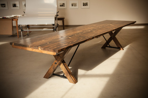 12' Conference Table With Trestle Base
