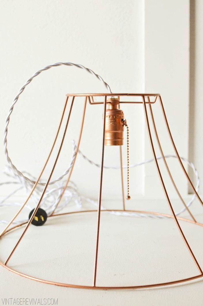 Copper wire lampshade google search lights pinterest wire do you have any ugly lampshades lying around if so this wire pendant light tutorial is perfect upcycle old lampshades into trendy wire pendant lights greentooth