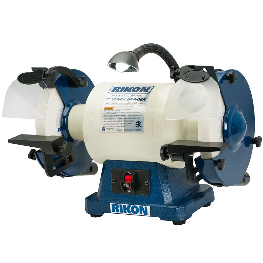 Rikon 8 Quot Slow Speed Bench Grinder 1 Hp Lathes Power