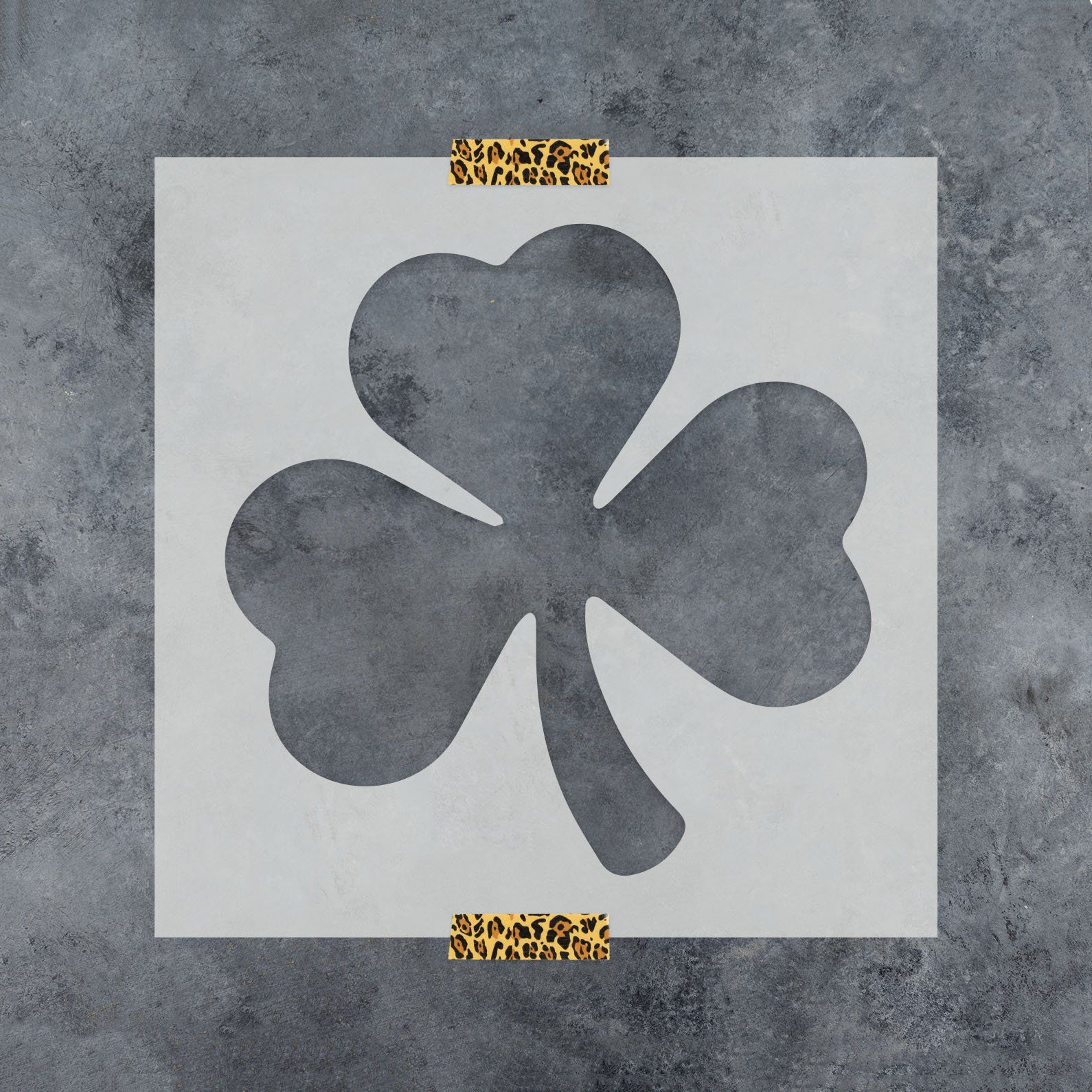Reusable Stencils for Painting in Small /& Large Sizes Shamrock Stencil Template for Walls and Crafts
