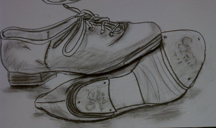 Tap Shoes - Done in Conte   Dancing