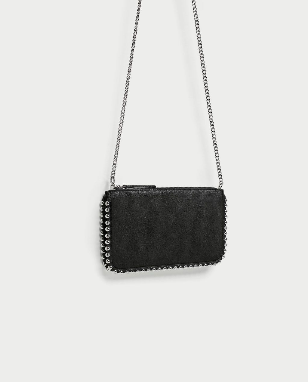 salvare d690c 6cd24 BORSA A TRACOLLA NERA BORCHIE ZARA | Black cross body bag ...