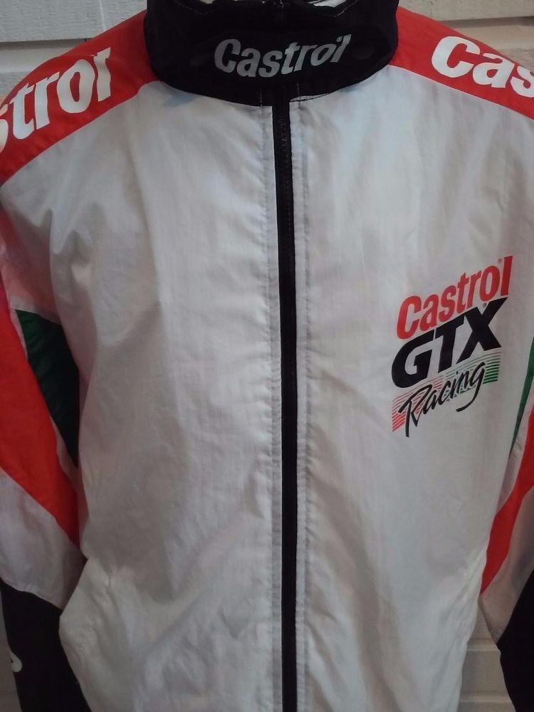 f27dd1145 Vtg 90s CASTROL GTX RACING Windbreaker Nylon Jacket Men's XL Motor ...