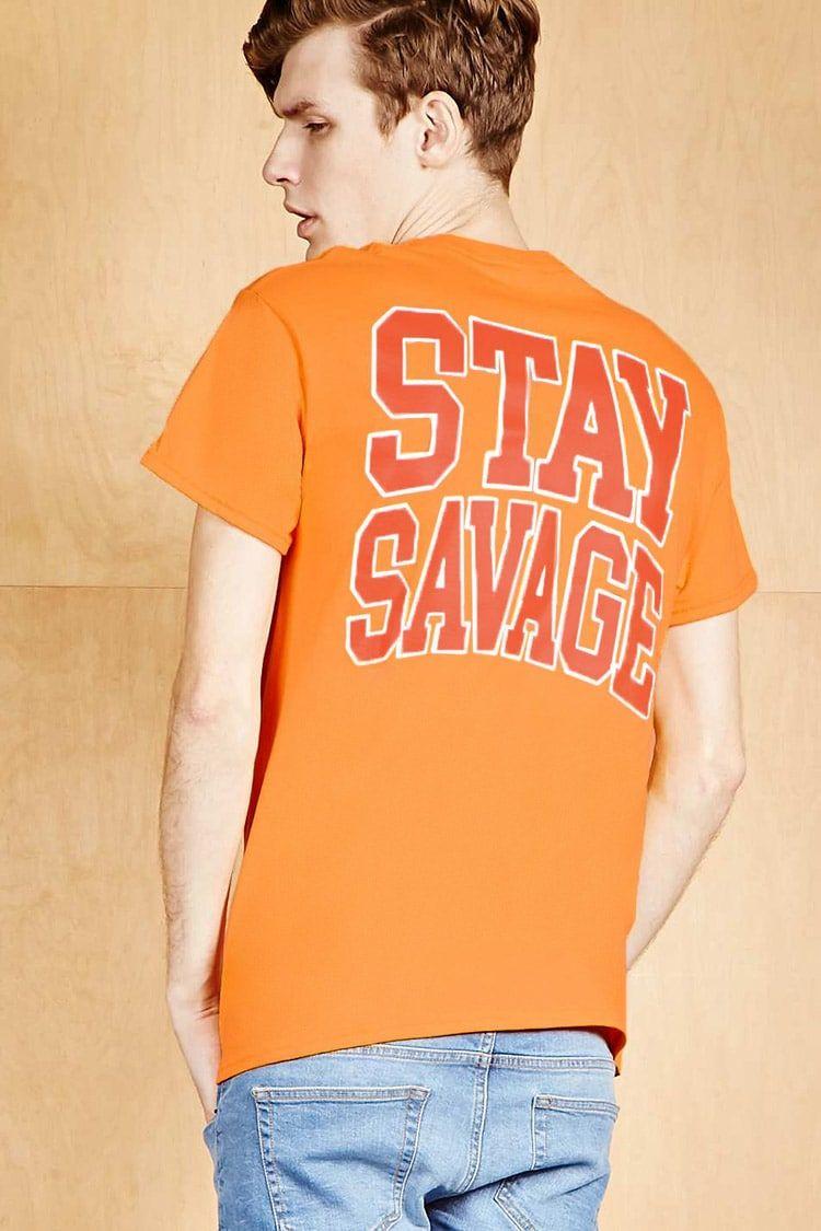 Human Condition Savage Tee Orange