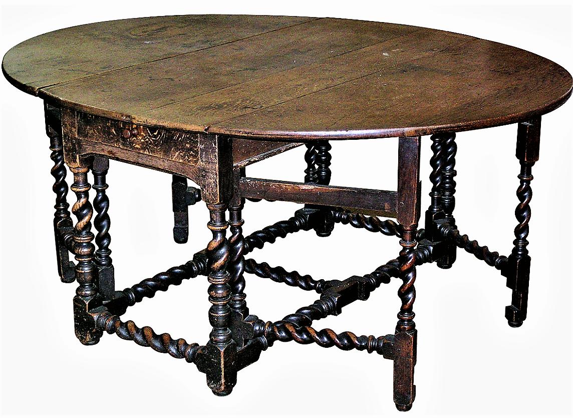 Importante table gate leg.fin XVIII Angleterre. mm   Table de ...