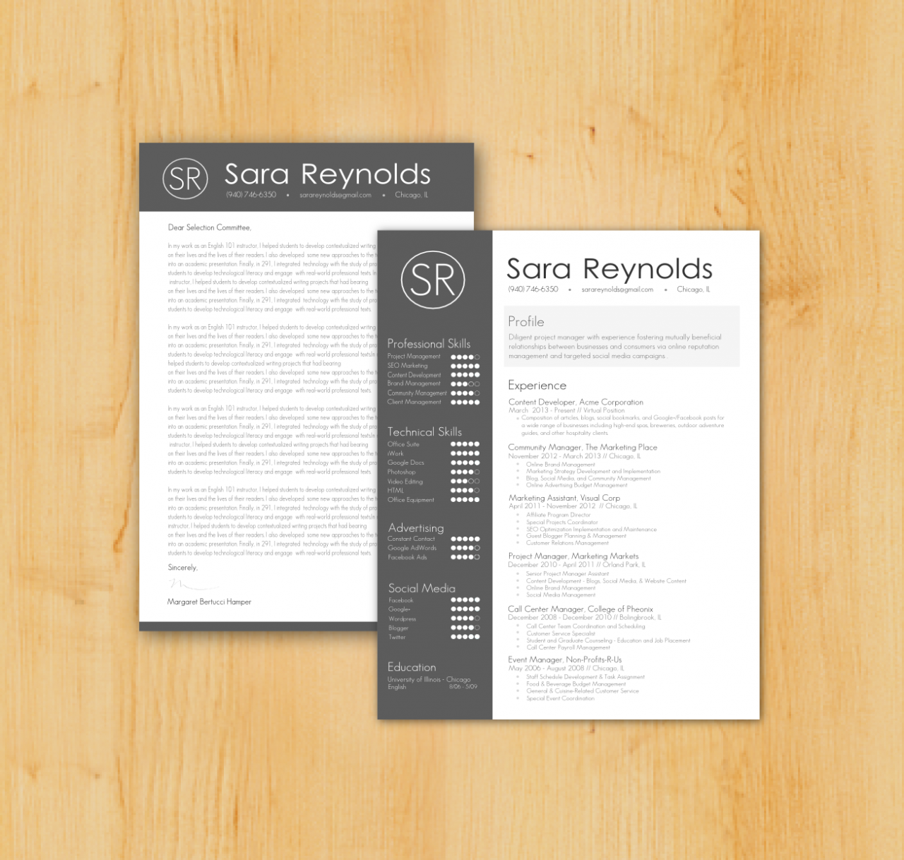 creative cover letter Professional resume template & cover letter, cv, professional modern creative resume template, ms word for mac + pc, us letter + best cv we've covered two previous posts on creative, graphic design style cv/resume's before, here and here.