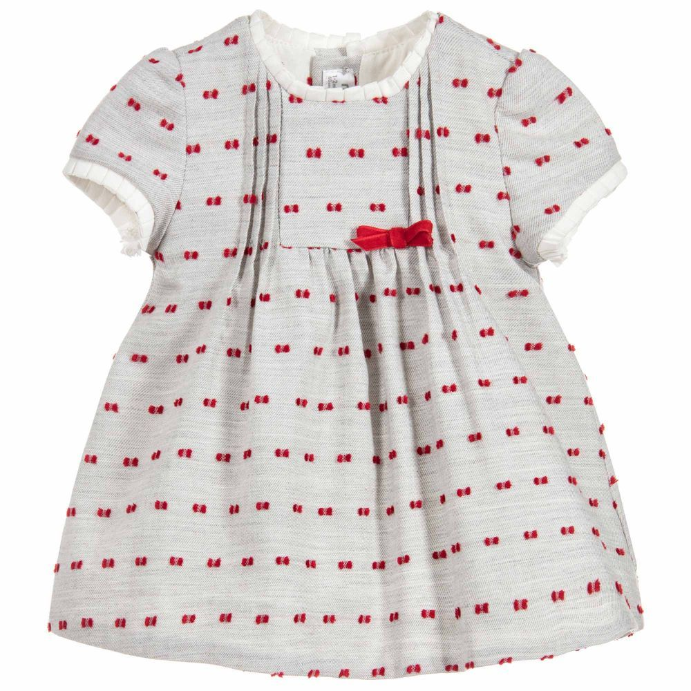 e8315f55c Baby Girls Grey Cotton Dress for Girl by Mayoral Newborn. Discover ...