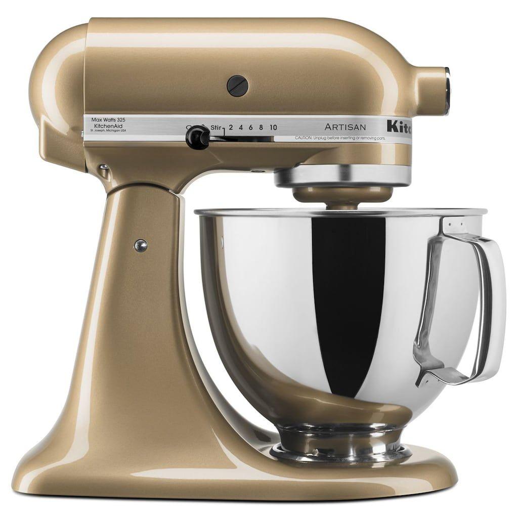 KitchenAid KSM150PSCZ Artisan 5-qt. Stand Mixer, Beige | Stand ...