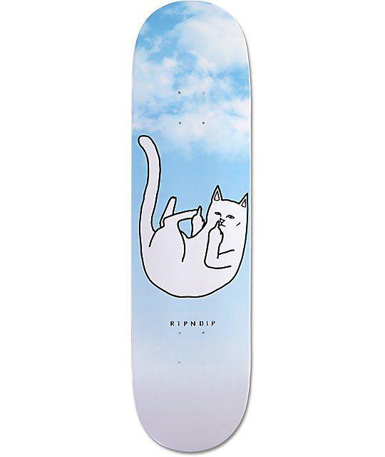 Ripndip Falling For Nermal 8 25 Skateboard Deck Cool Skateboards Skateboard Decks Painted Skateboard
