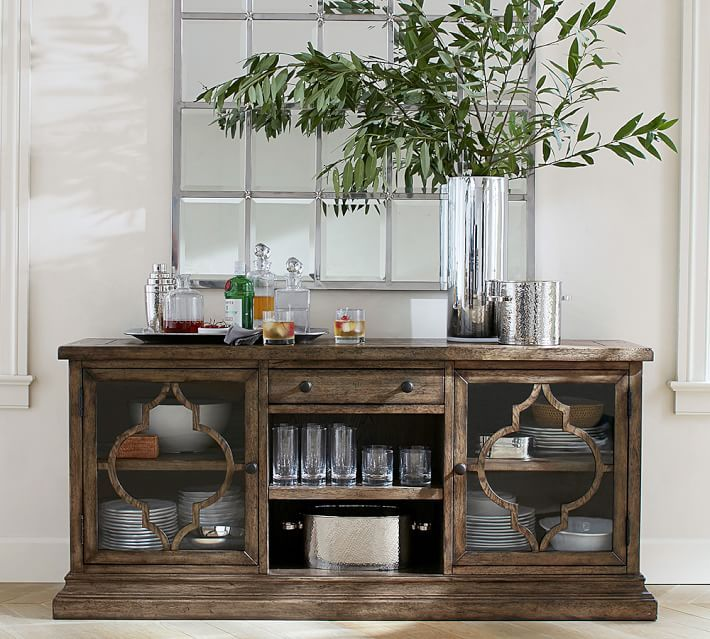 Lorraine Media Console Buffet Decor Pottery Barn Dining Room