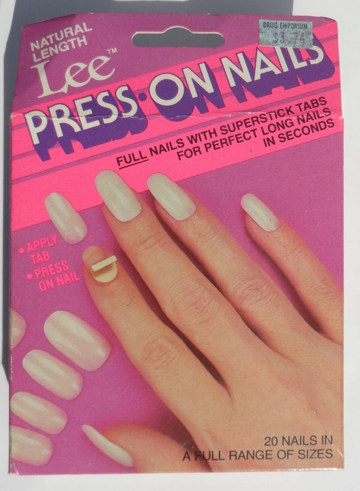 Rare Vintage 1980 S Lee Press On Nails Nos Cosplay Stick Adhesive Sealed Fake