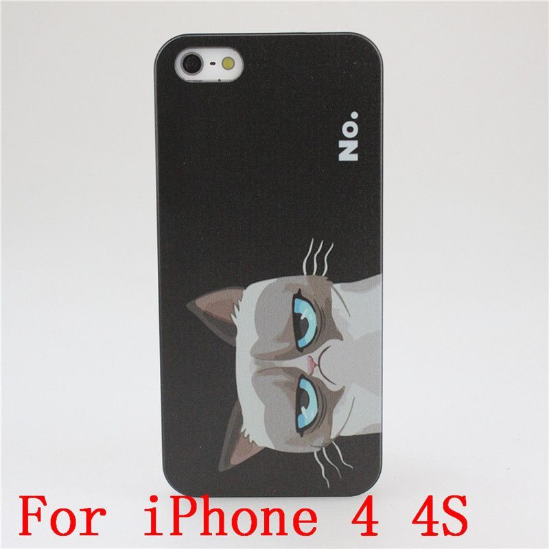 2015 New arrive Grumpy Cute Cat PC Hard Case Cover for Apple i Phone iPhone 4 4S 4G 5 5S 5G 5C