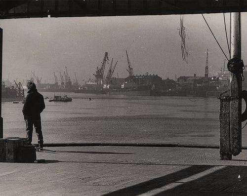 Newcastle Libraries have a fabulous photographic resource on flickr. We liked this image as it had a sense of journey from the Tyne docks that echoed one of the themes with the play.