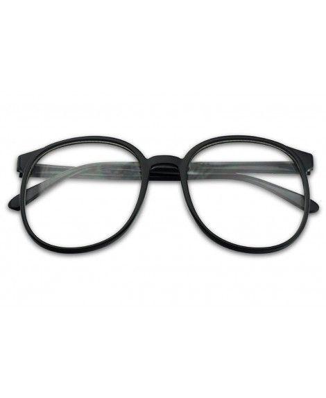 4f8470257ad Over Sized Round Thin Nerdy Fashion Clear Lens Aviator Eyewear ...