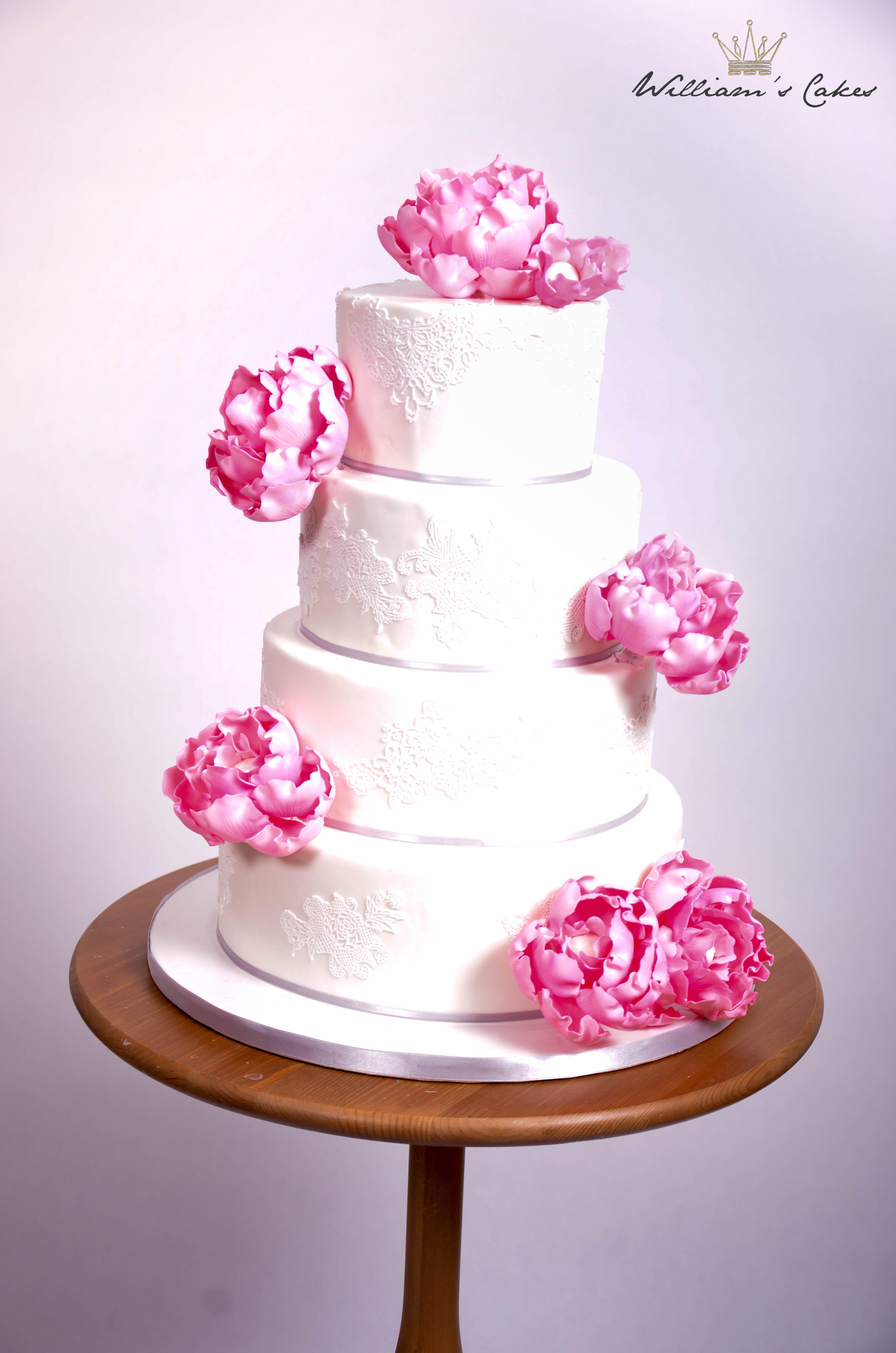 peony pink lace | Edible Art... | Pinterest
