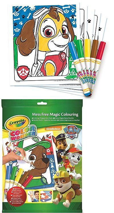 Pens and Markers 116656: New Crayola, Paw Patrol Color Wonder Mess ...