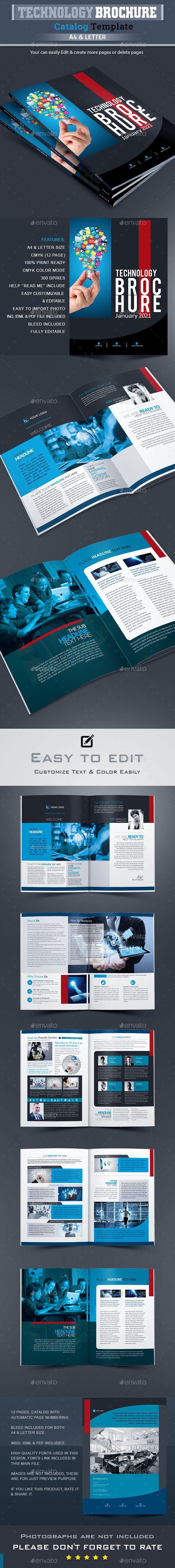Technology Brochure Catalog Design  Brochures Print Templates