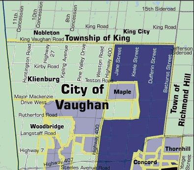 Kleinburg Ontario Map Map of the City Of Vaughan Includes Kleinburg | vaughan | Map, City