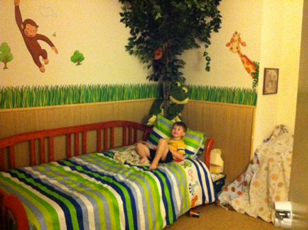 Super Detailed U0026 Adorable Jungle Room    Check Out Our Curious George On  The Wall!