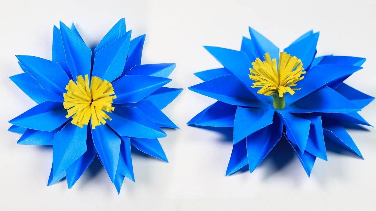 Paper Flower How To Make Easy And Simple Paper Flower Diy Paper
