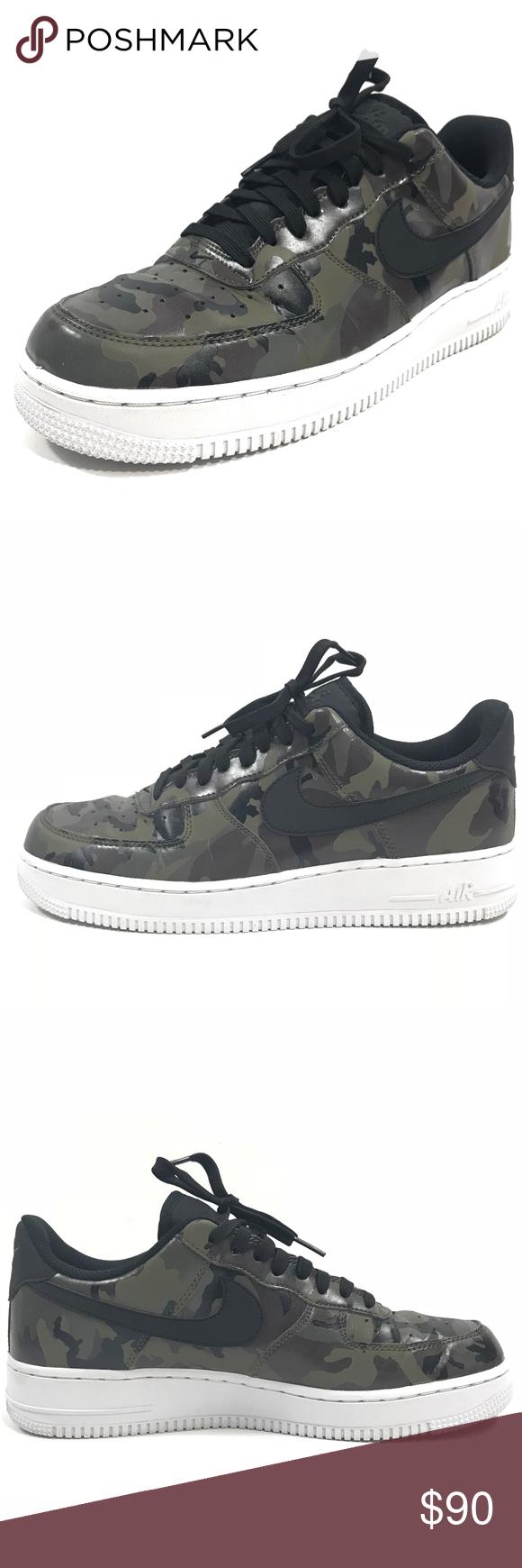283453ef945c Nike Mens Air Force 1 07 LV8 Sneakers Camo Nike Mens Air Force 1 07 ...