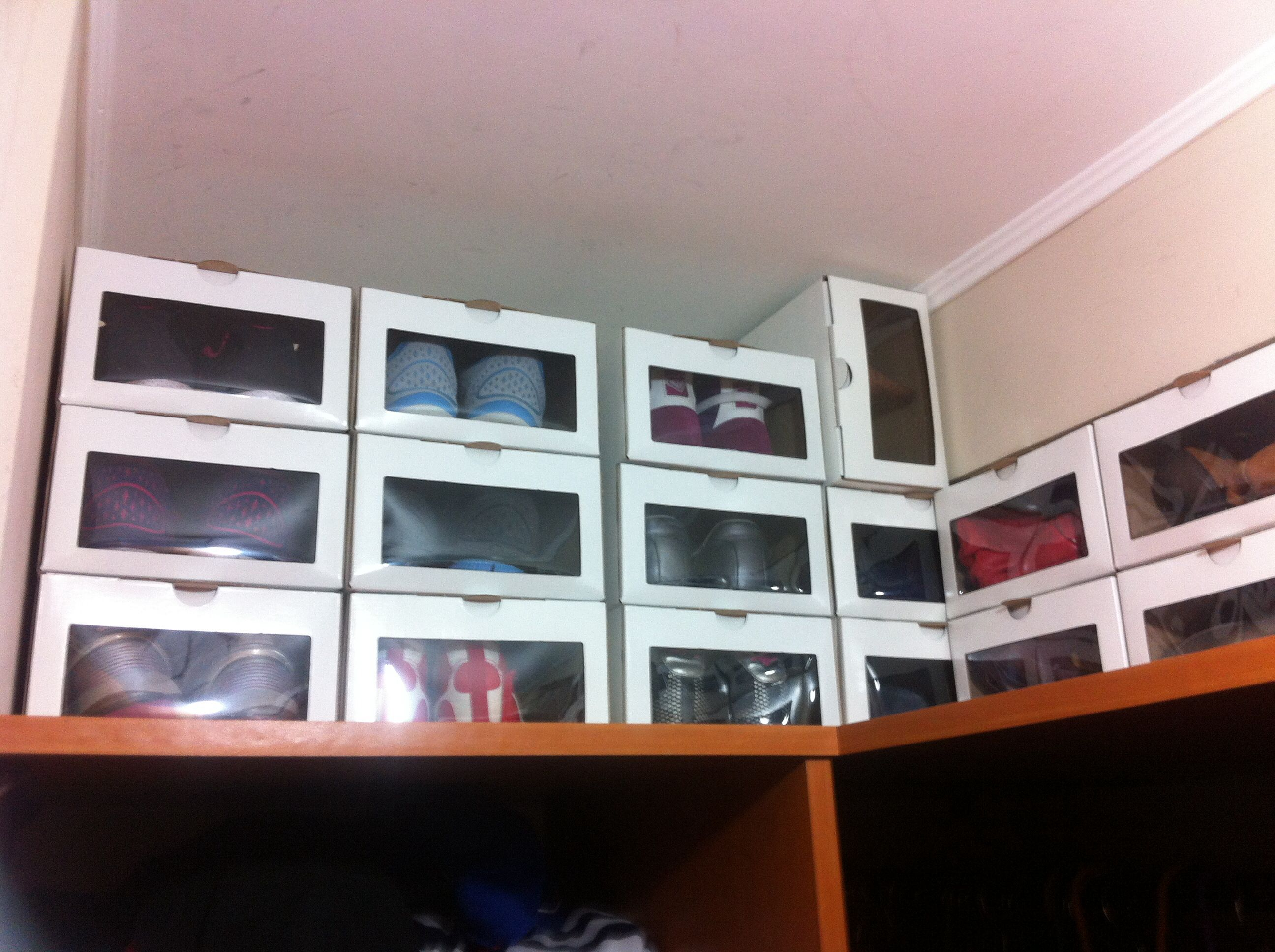 Shoe Boxes With Clear Window: Great Organization Solution ;