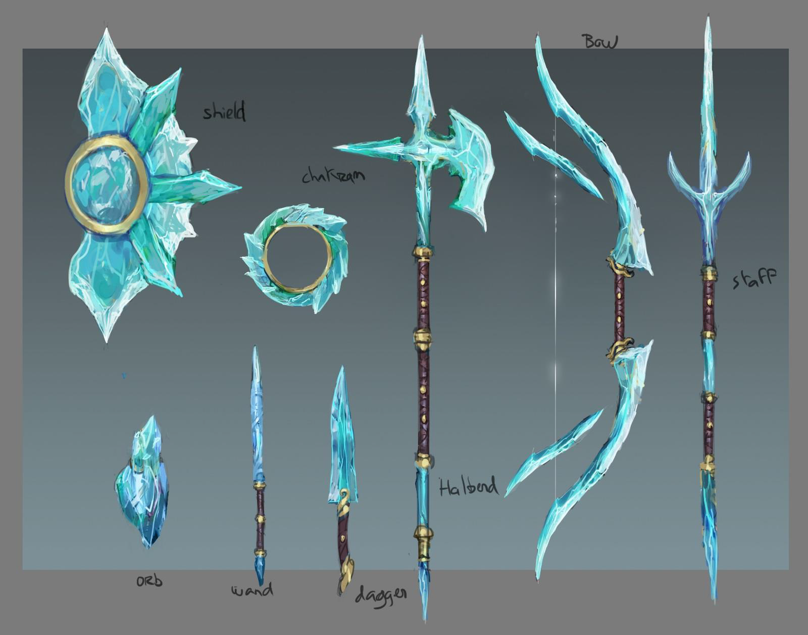 Reminds me of BotW | Weapons in 2019 | Weapon concept art