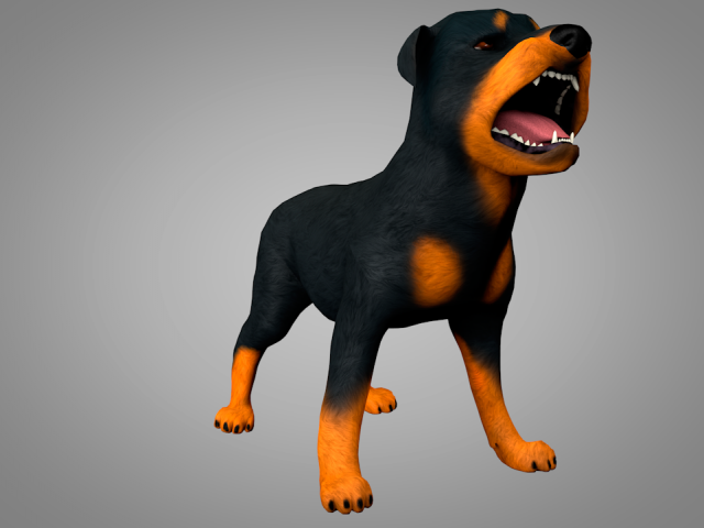 Dog Rottweiler 3D Model  max  c4d  obj  3ds  fbx  lwo  stl