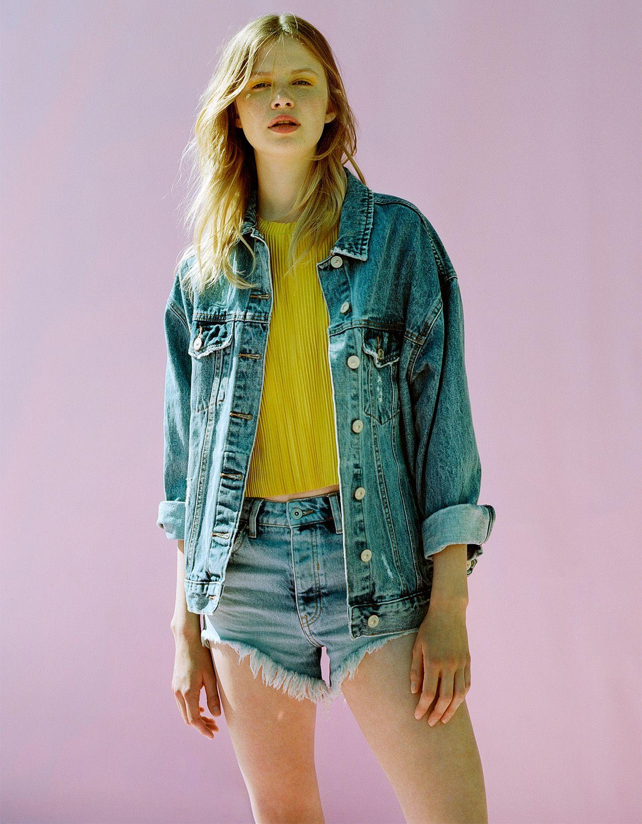 5a6072cdde0c Veste en jeans longue femme bershka – Vestes élégantes populaires