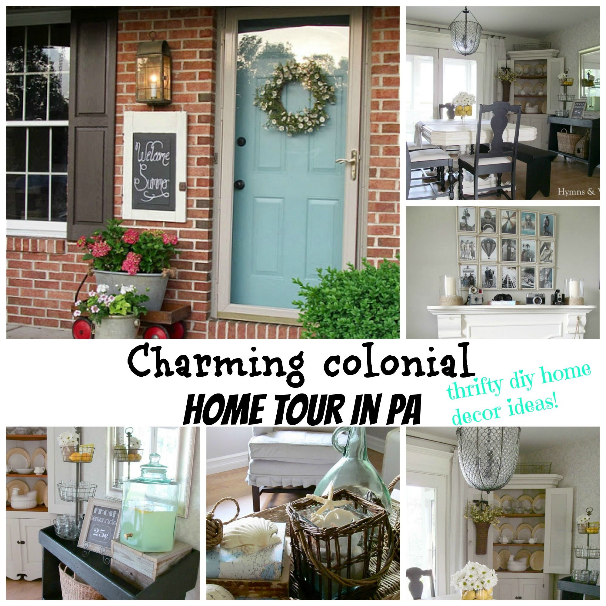 Charming Colonial Home Tour In PA. Lots Of Thrifty Home Decor Diy Ideas