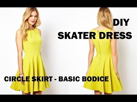 DIY | HOW TO MAKE A SKATER DRESS (CIRCLE SKIRT) - YouTube