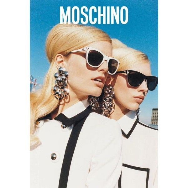 Hanne-Gaby Odiele Juliana Schurig by Juergen Teller for Moschino... ❤ liked on Polyvore