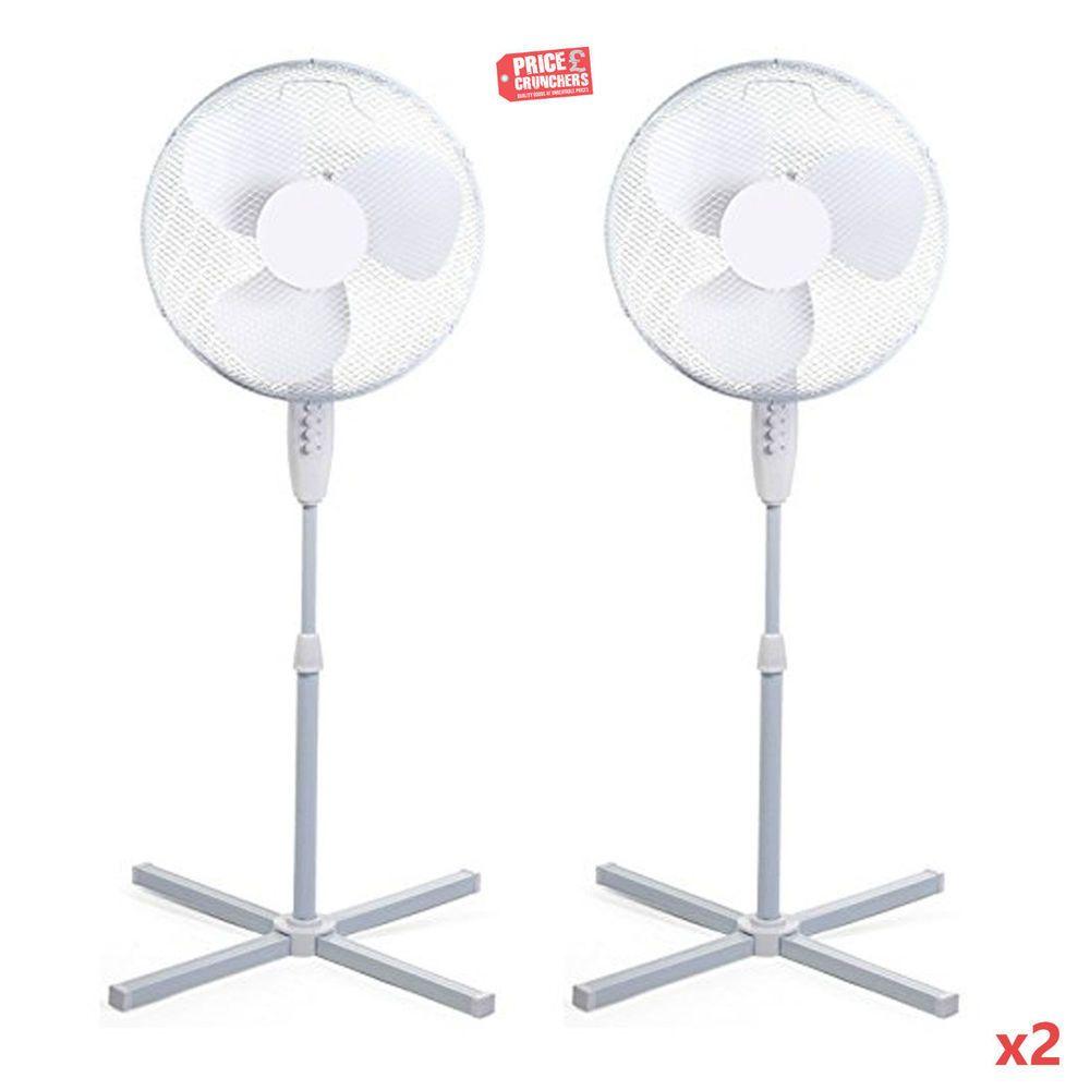 2x 16 Pedestal Oscillating Air Free Standing Cooling Fans Home Office Highlands Cooling Fan Fan Floor Fan