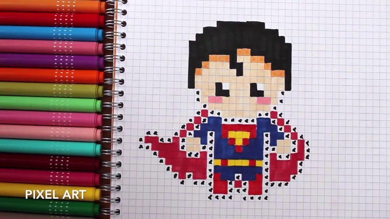 Pixel Art Comment Dessiner Superman Dessin Facile