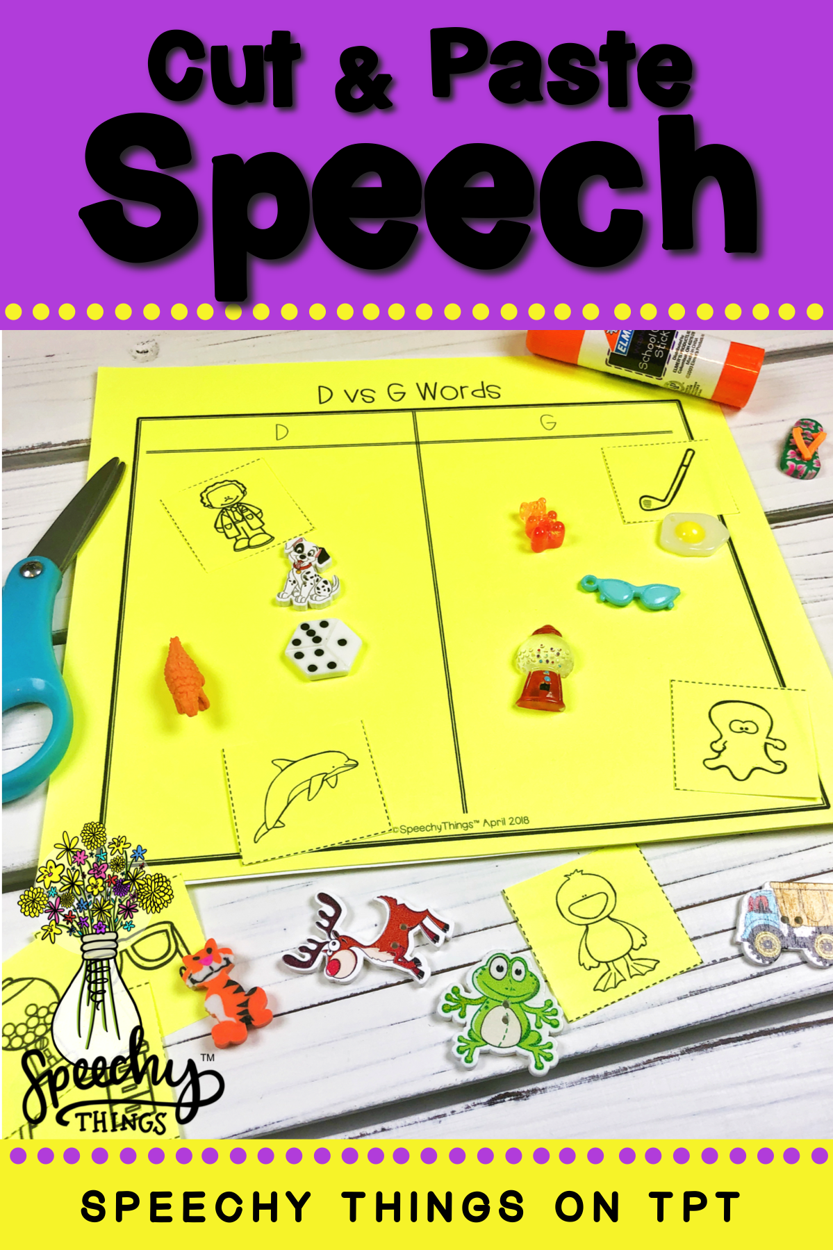 Sorting Speech & Phonology- Speech Therapy Activities for ...