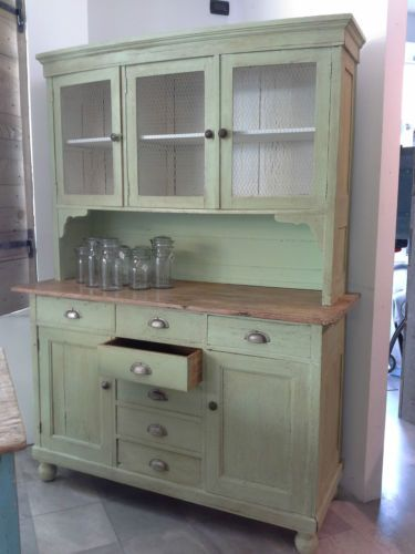 Antica credenza cassettiera rustica shabby country chic in for Arredamento d antiquariato