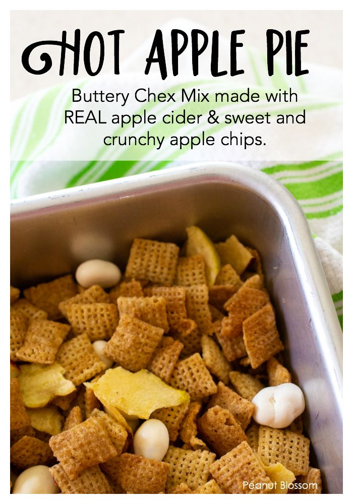 Hot apple pie Chex Mix images
