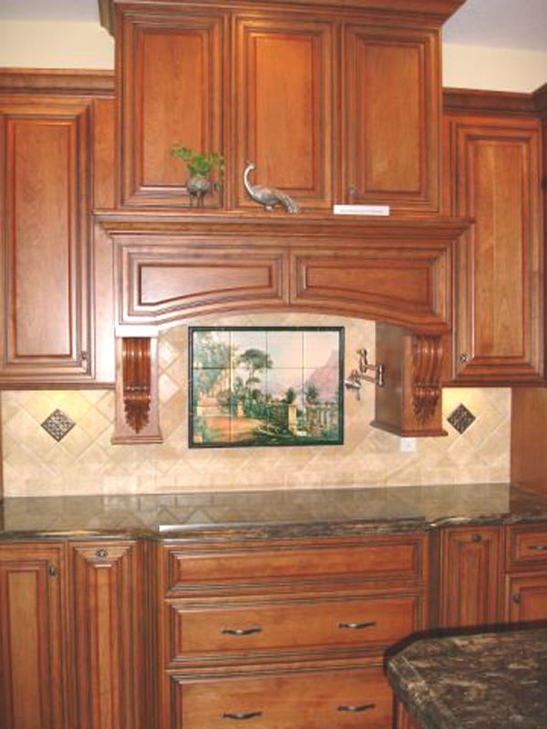Decorative Tile Backsplash Kitchen Kitchen Backsplash Ideas  Lodge On Lake Como  Tile Mural