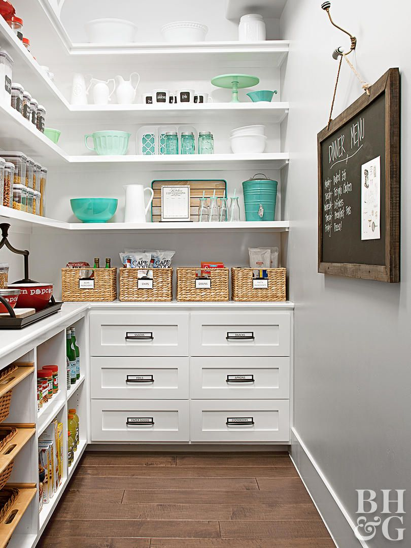 This Dreamy Family Kitchen is a Storage Oasis #pantryshelving