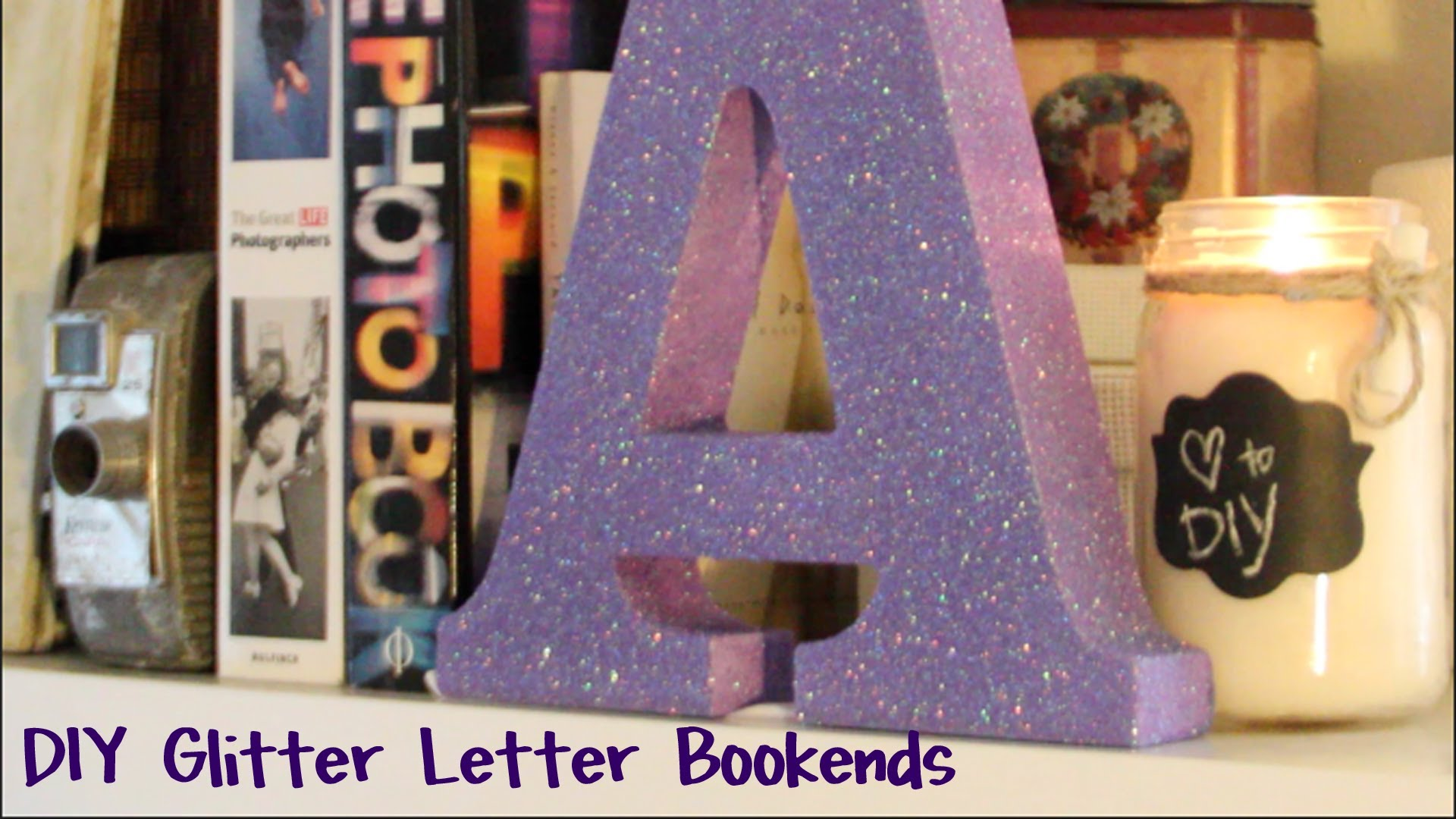 Diy Glitter Bookends Bookends Diy Glitter Easy Glitter Letters Glitter Diy Diy Letters