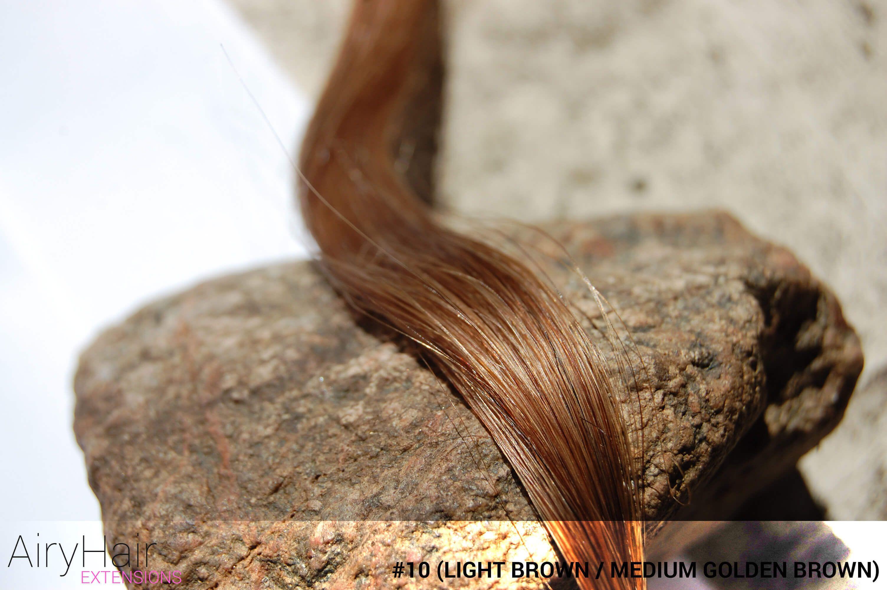 10 Light Brown Medium Golden Brown Ash Brown Hair Color A