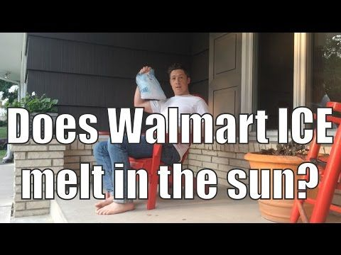 Proof that even Walmart ICE Doesn't Melt in the Sun - http://cactopia.com/even-walmart-ice-doesnt-melt/